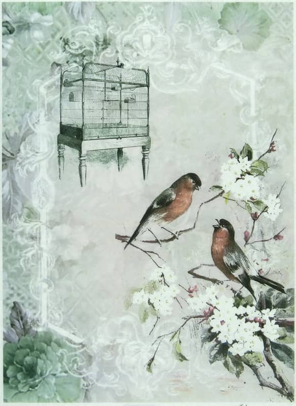 Rice Paper - Romantic Bird Cages