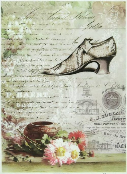Rice Paper - Shoes with Flowers