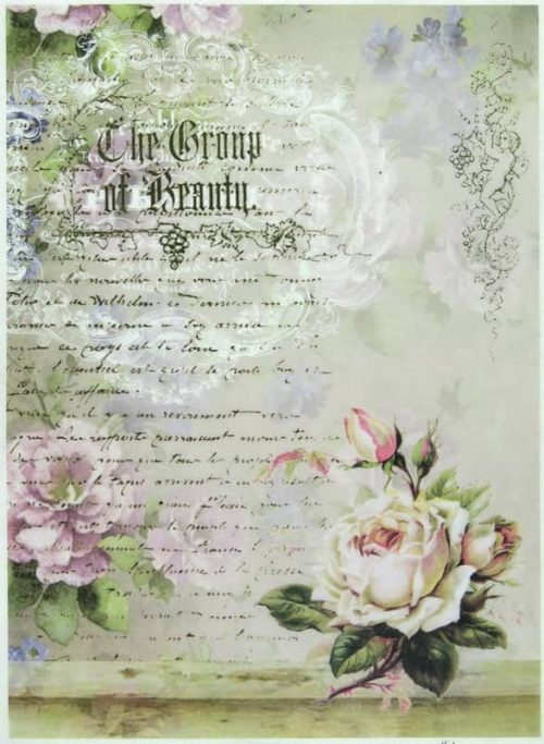 Rice Paper - Group of Beauty and Roses
