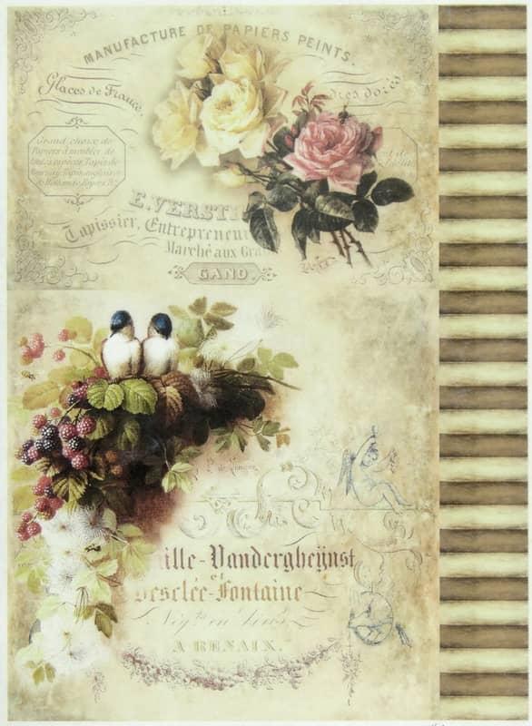 Rice Paper - Roses & Raspberries