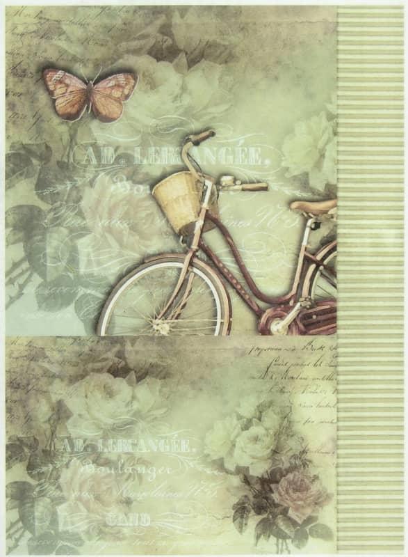 Rice Paper - Bike & Roses