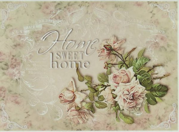 Rice Paper - Home Sweet Home Rose Big