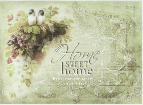 Rice Paper - Home Sweet Home Raspberry