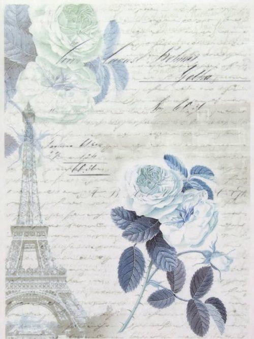 Rice Paper - Blue Rose