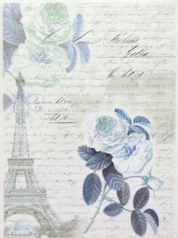 Rice Paper - Blue Rose