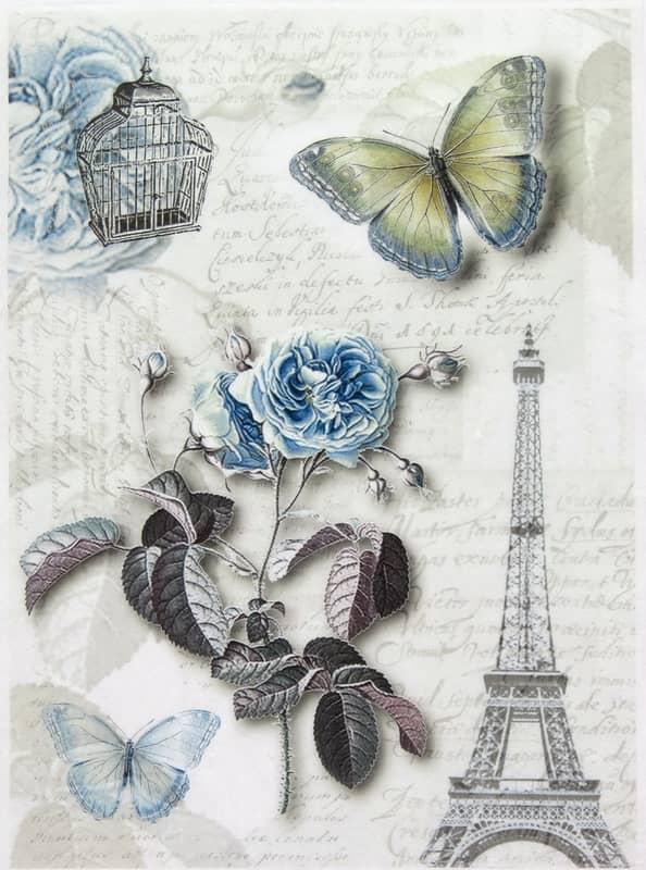 Rice Paper - Blue Paris