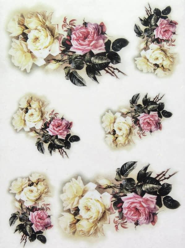 Rice Paper - Pastel Roses