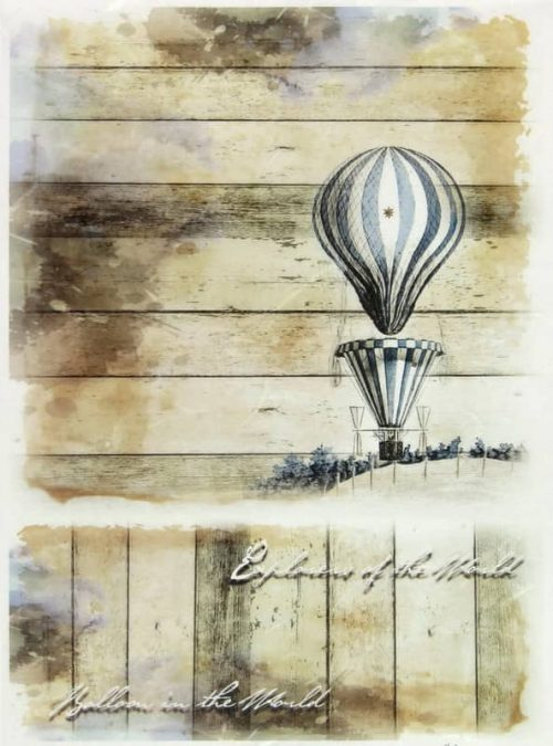 Rice Paper - Balloon on the World