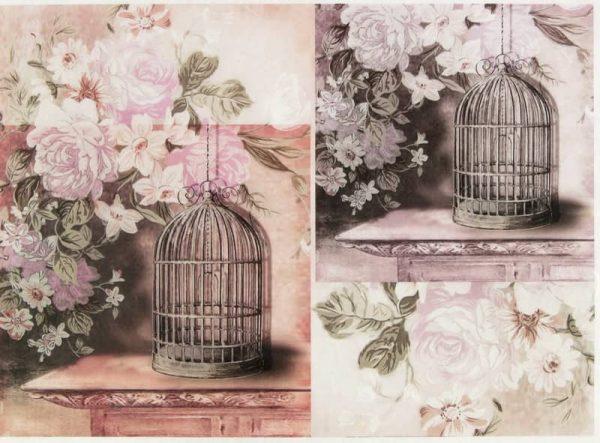 Rice Paper - Vintage Birdcages