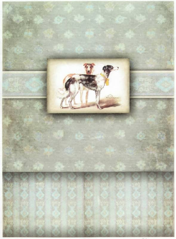Rice Paper - Vintage Dogs