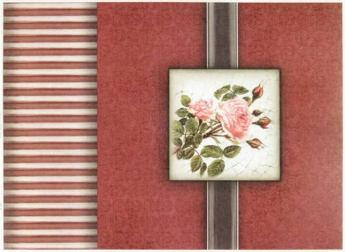 Rice Paper - Vintage Red Rose