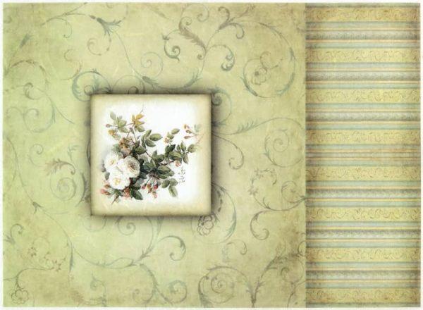Rice Paper - Vintage White Rose