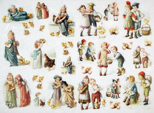 Rice Paper - Vintage Easter Children