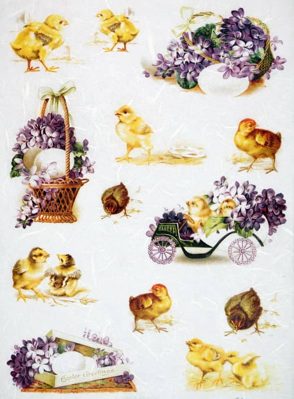 Rice Paper - Vintage Easter Greeting