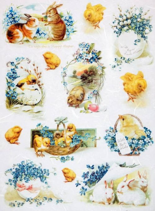 Rice Paper - Vintage Happy Easter M