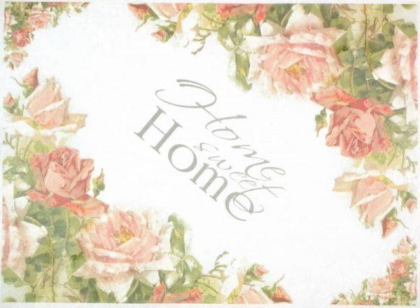 Rice Paper - Vintage Rose Sweet Home