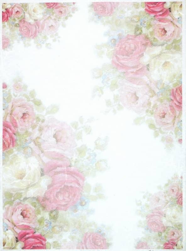 Rice Paper - Vintage Roses-