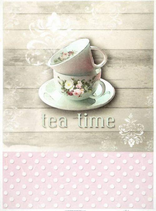 Rice Paper - Tea Time- Vintage