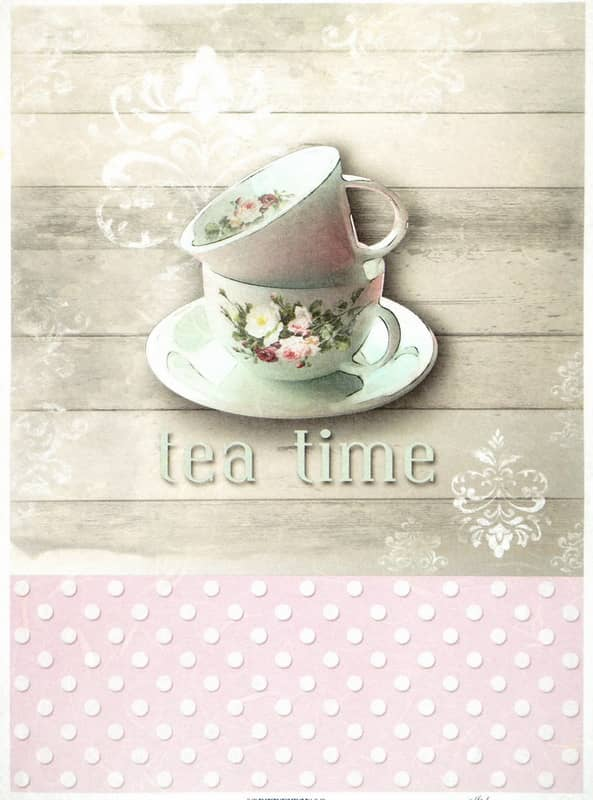 Rice Paper - Tea Time- Vintage
