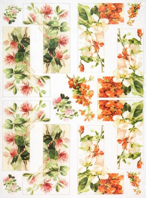 Rice Paper - Flower Labels 2.