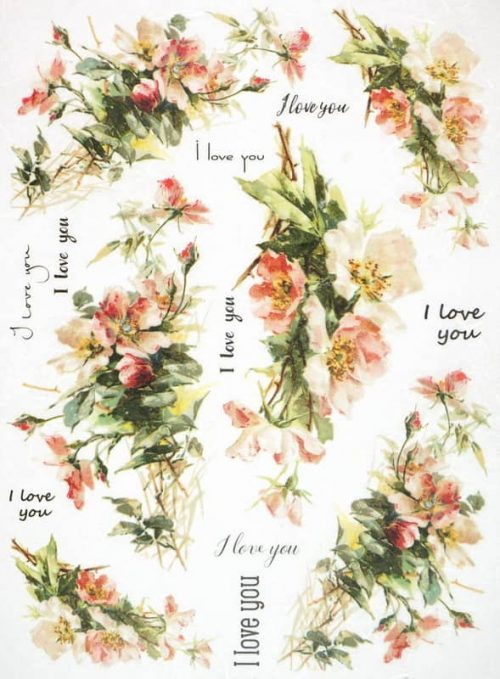 Rice Paper - I Love You Flower