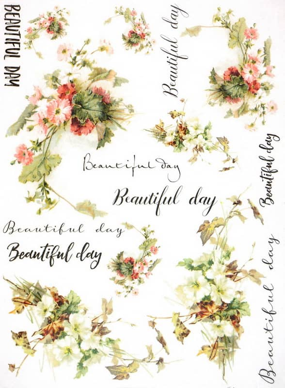 Rice Paper - Beautiful Flower Day