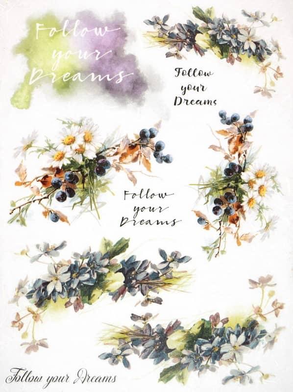 Rice Paper - Flower Dreams