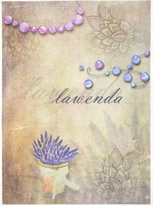 Rice Paper - Vintage Lavender Flower