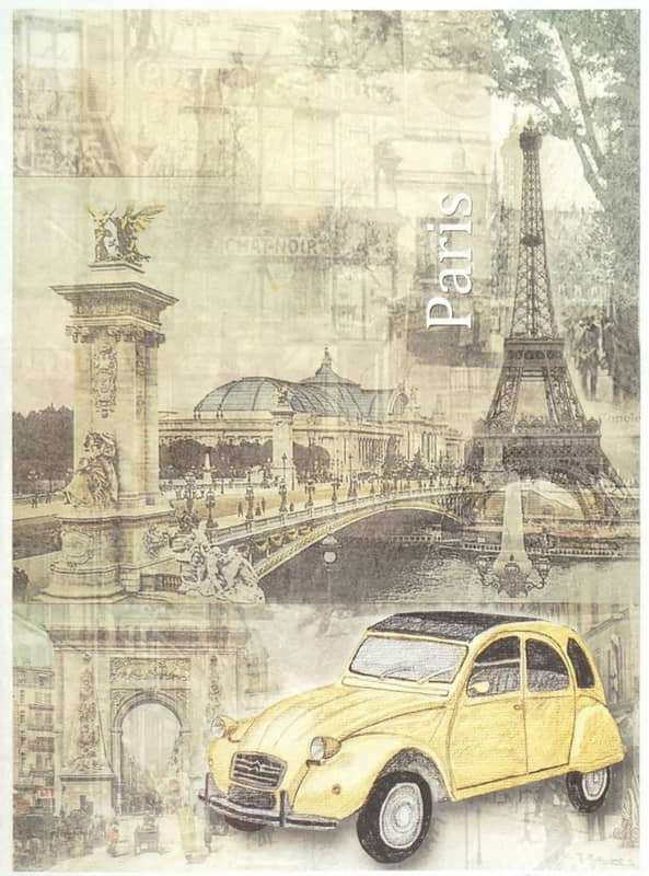 Rice Paper - Old Citroen in Paris