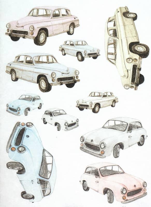 Rice Paper - Veteran Cars Old Mobile