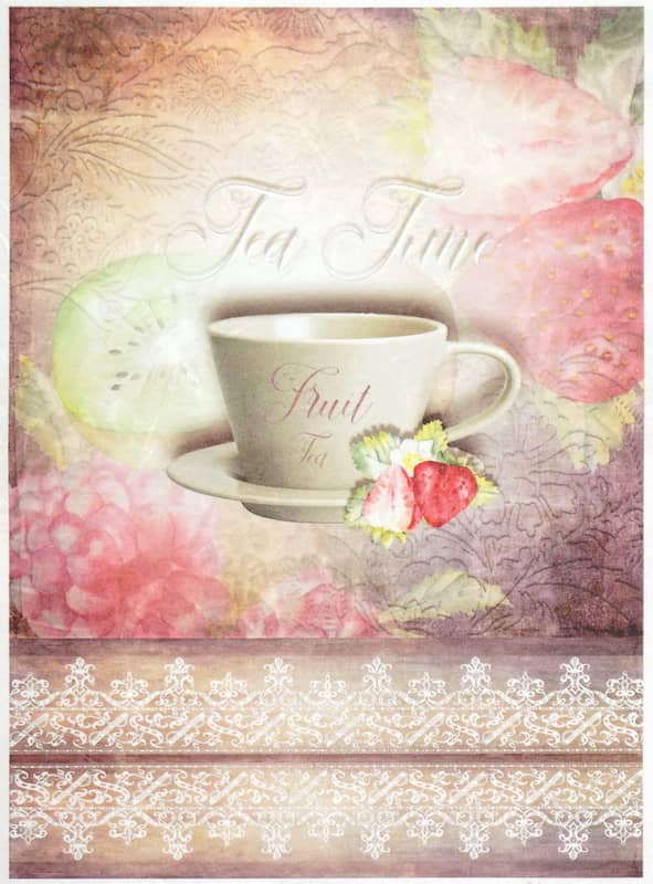 Rice Paper - Vintage Fruit Tea Time