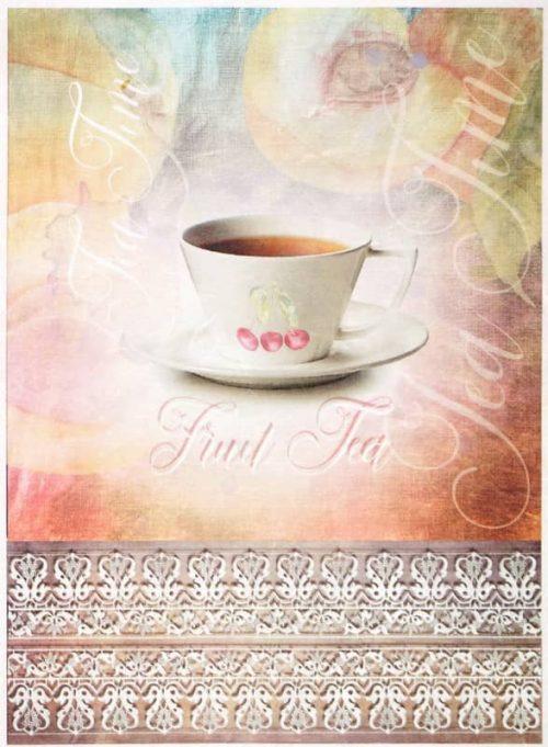 Rice Paper - Vintage Fruit Tea Time