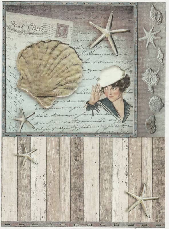 Rice Paper - Old Maritime Card 2