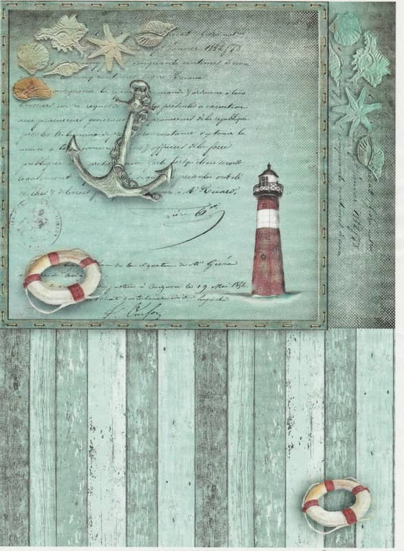 Rice Paper - Old Maritime Card 6