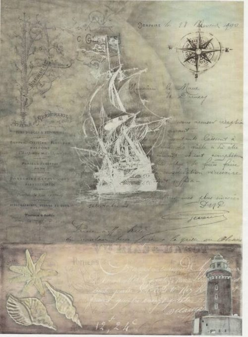 Rice Paper - Old Maritime Card 7