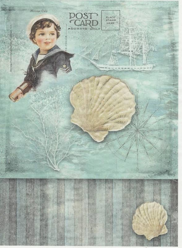 Rice Paper - Little Sailor Post Card