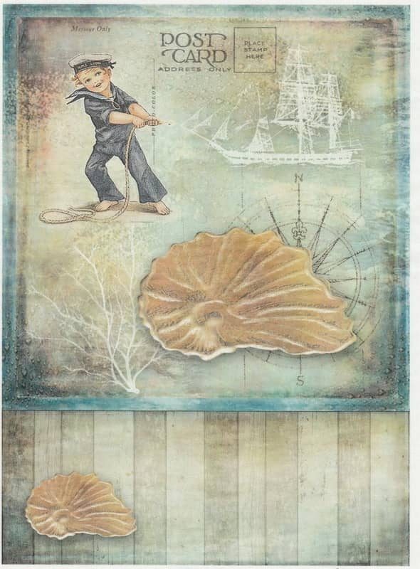 Rice Paper - Little Sailor Post Card