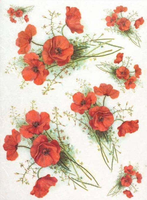 Rice Paper - Red Poppy