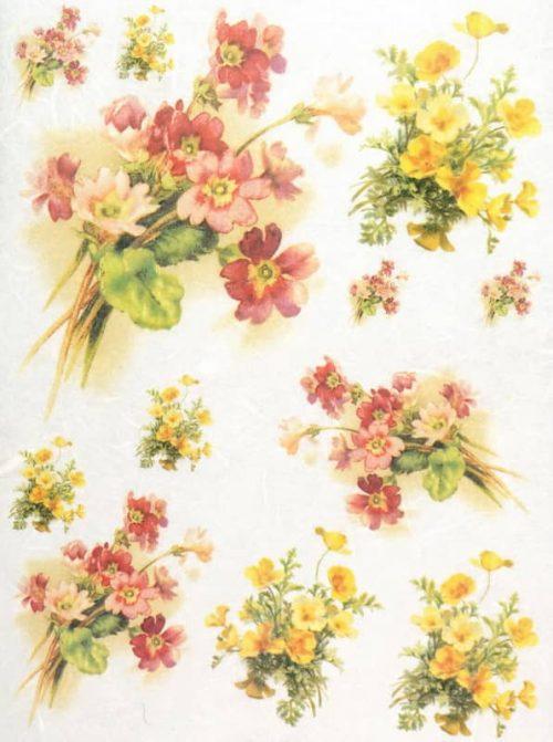 Rice Paper - Colorful Bouquet