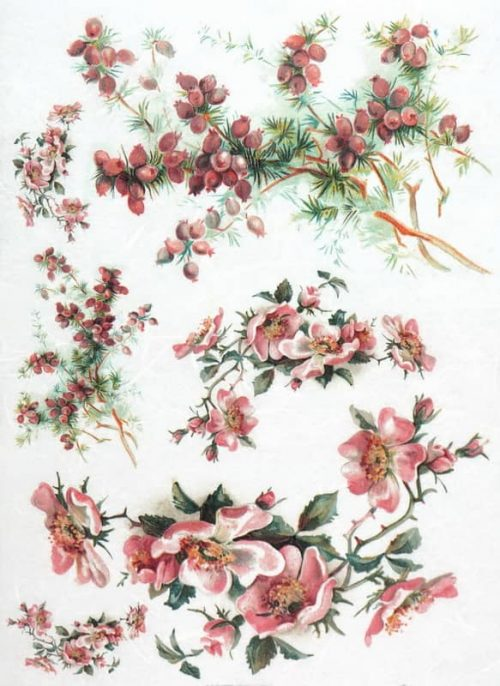 Rice Paper - Summer Red Bouquets