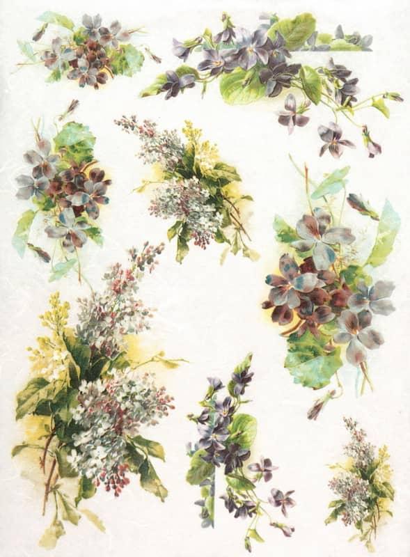 Rice Paper - Viola Bouquets