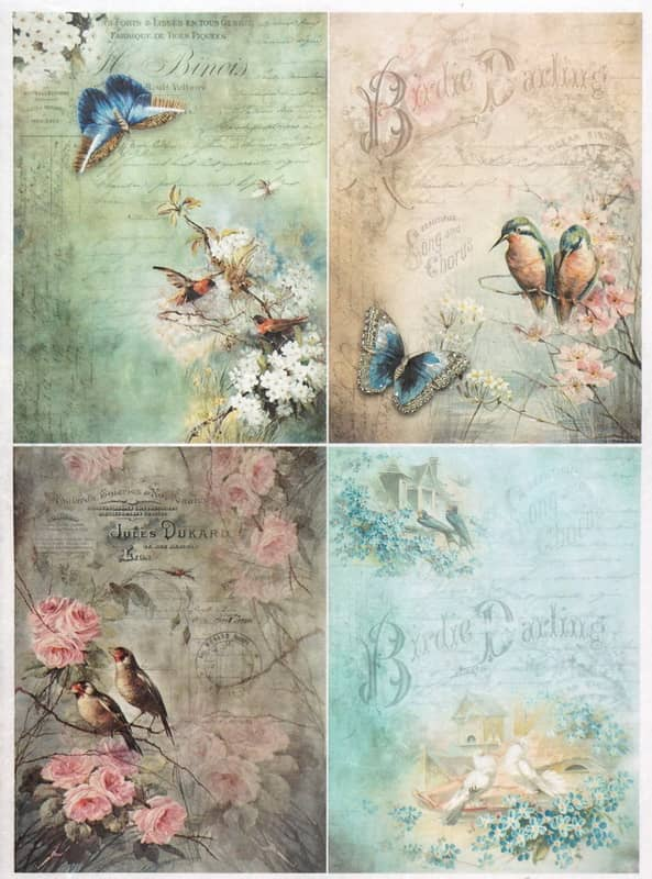 Rice Paper - Vintage Birdie Darling