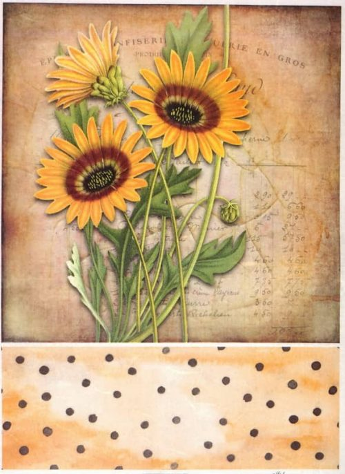 Rice Paper - Sunflowers and dots
