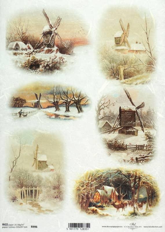 Rice Paper - Vintage Winter Mills