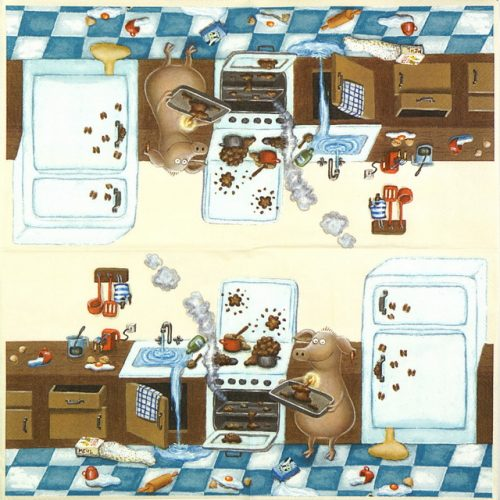 Paper Napkin - Birthday Cooking