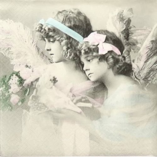 Paper Napkin - Flower Angels