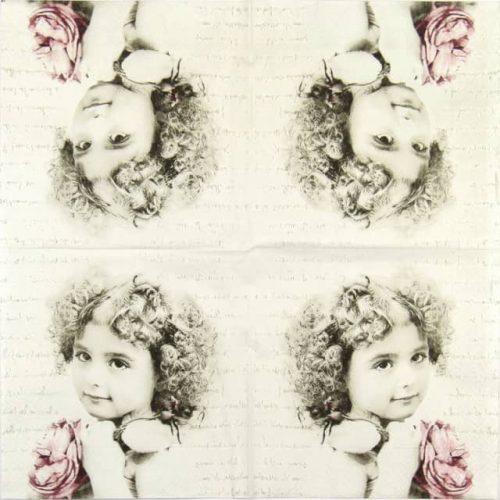 Paper Napkin - Curly Girl