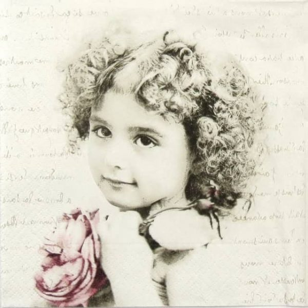 Paper Napkin - Curly Girl