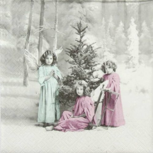 Lunch Napkins (20) - Christmas Angels