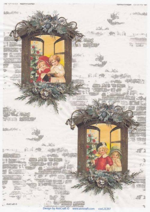 Rice Paper - Christmas Window